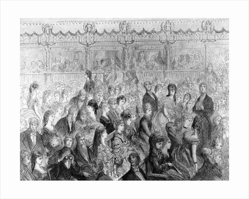 The Stalls, Covent Garden Opera by Gustave Dore