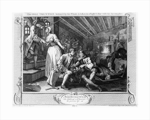 The Idle Prentice Betrayed by a Prostitute by William Hogarth