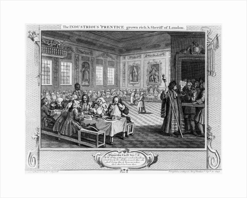 The Industrious 'Prentice Grown Rich, and Sheriff of London by William Hogarth