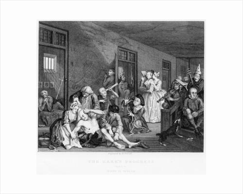 Scene in Bedlam by William Hogarth