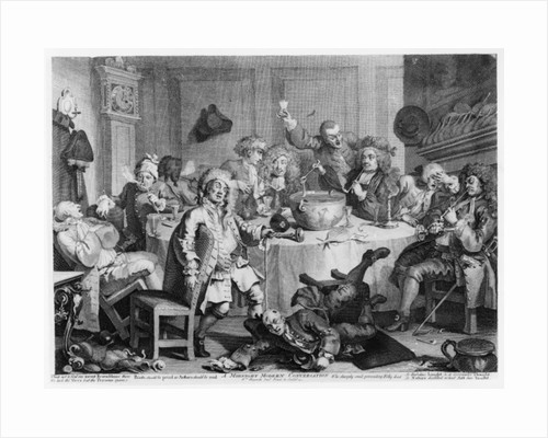 A Midnight Modern Conversation by William Hogarth
