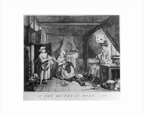 The Distressed Poet by William Hogarth