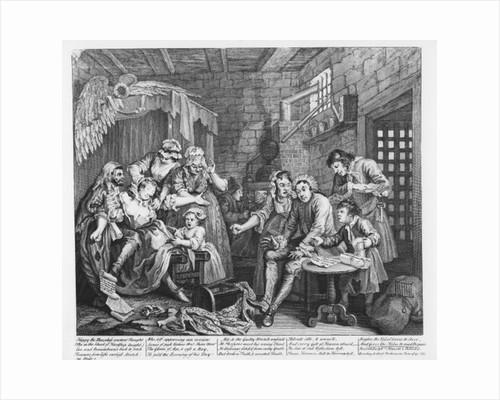 The Rake in Prison, plate VII by William Hogarth