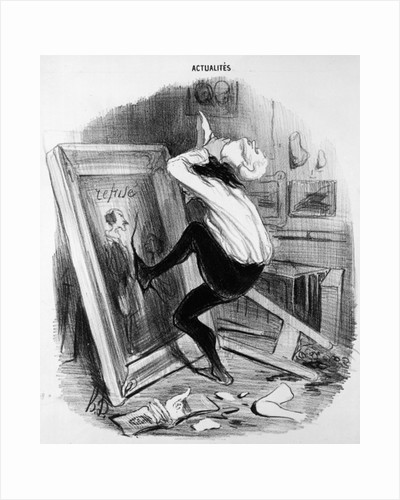 'Ungrateful country, you shall not have my masterpiece' by Honore Daumier