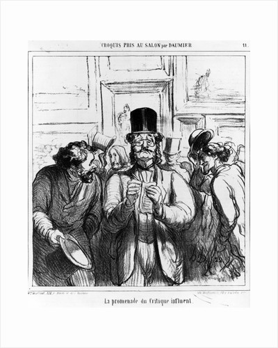 'The Promenade of the Influential Critic' by Honore Daumier