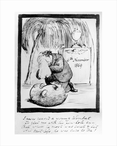 Rossetti lamenting the death of his Wombat by Dante Gabriel Charles Rossetti