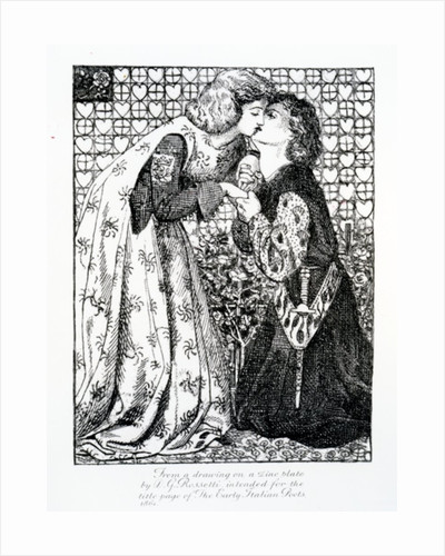 Titlepage intended for 'The Early Italian Poets' by Dante Gabriel Charles Rossetti
