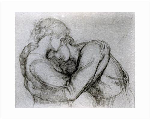 Study for 'The Blessed Damozel' by Dante Gabriel Charles Rossetti
