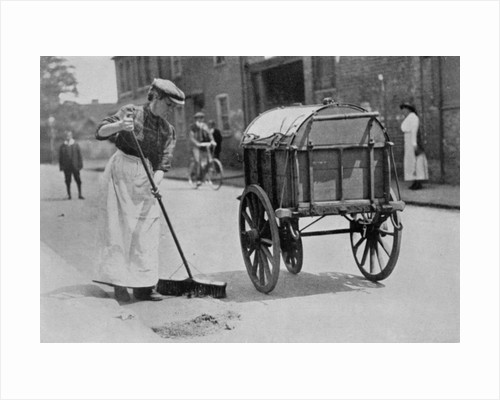 Women Roadsweepers, War Office photographs by English Photographer