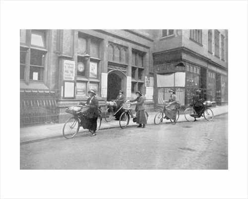 Women acting as Postmen, War Office photographs by English Photographer