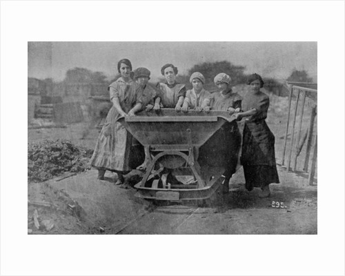 Women Transporting Refuse. War Office photography by English Photographer