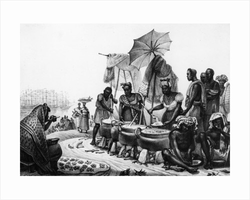 Black Women selling Angou by Jean Baptiste Debret
