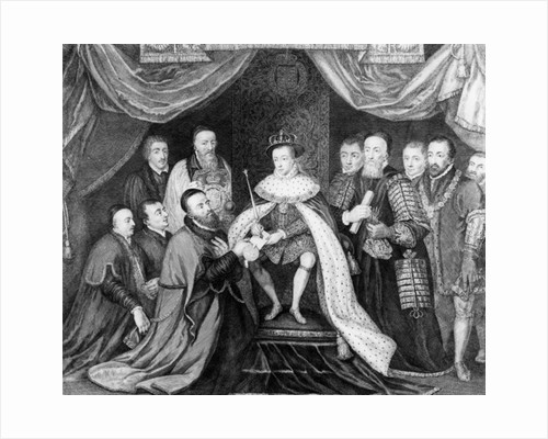 Edward VI granting the Charter for Bridewell Hospital to Sir George Barnes in 1553 by George Vertue