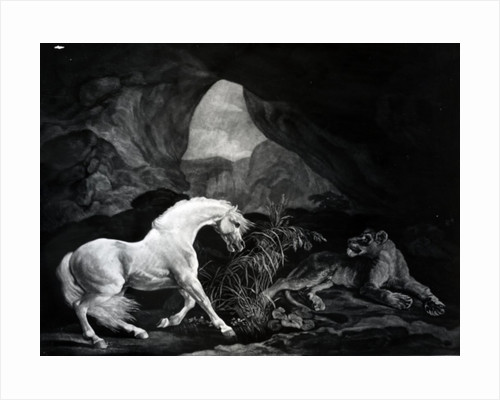 A Horse startled by a Lioness by George Stubbs