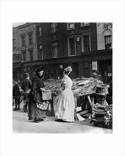Victorian Market Scene by English Photographer