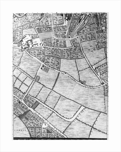 A Map of Bermondsey, London by John Rocque
