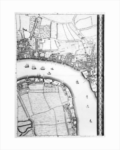 A Map of Limehouse and Rotherhithe, London by John Rocque
