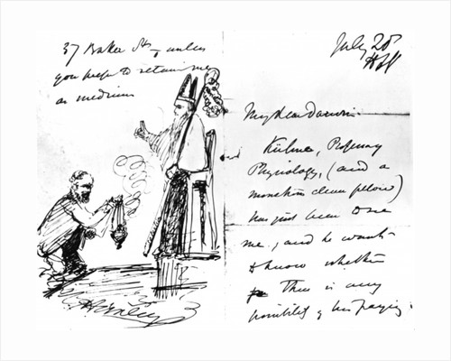 A letter from Thomas Henry Huxley to Charles Darwin, with a sketch of Darwin as a bishop or saint, July 20th by Thomas Henry Huxley