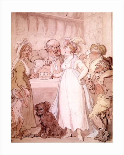 A Gin Shop by Thomas Rowlandson