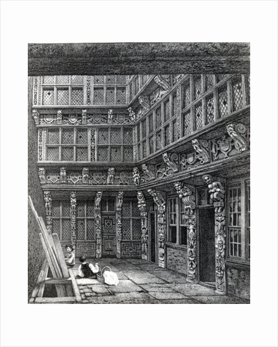 A Magnificent Mansion lately standing in Hart Street, Crutched Friars by John Thomas Smith
