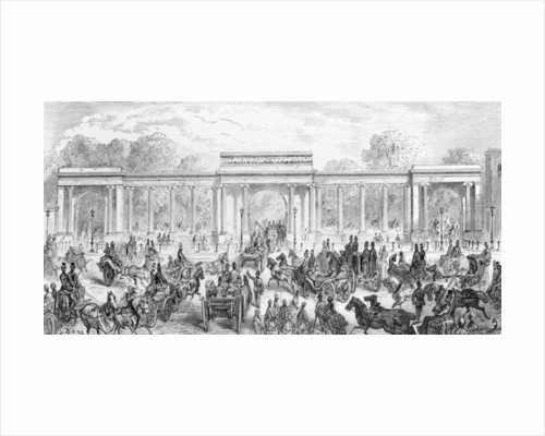 The Entrance to Hyde Park by Gustave Dore