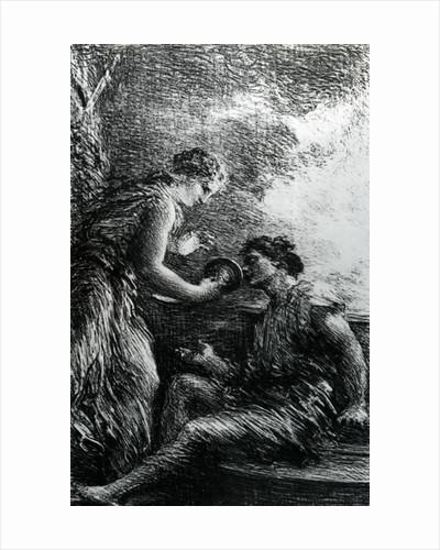 Sieglinde and Siegmund by Ignace Henri Jean Fantin-Latour