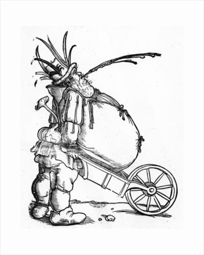 A Fat Man and a Wheelbarrow by Hans Weiditz
