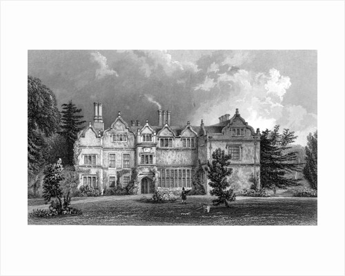 West Front of Spains Hall, Essex by William Henry Bartlett