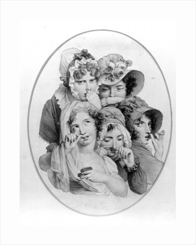 Lady Snuff Takers by English School