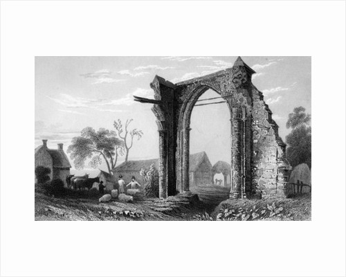 Remains of Bycknacre Priory, Essex by William Henry Bartlett