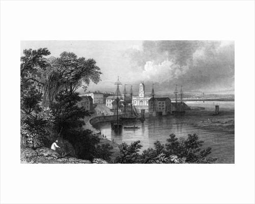 Mistley Quay, near Harwich, Essex by William Henry Bartlett