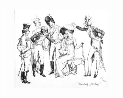 Tenderly flirting by Hugh Thomson