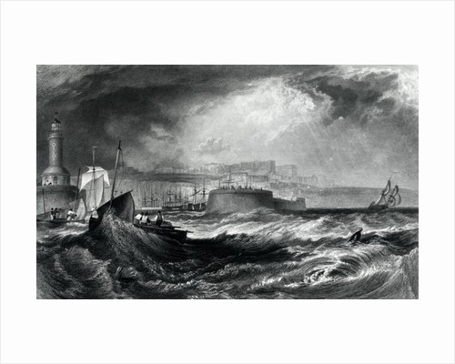 Ramsgate, Kent from 'Picturesque Views on the Southern Coast of England' engraved by Robert Wallis by Joseph Mallord William Turner