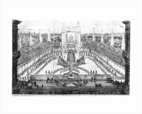 Pageant of Atlas for the marriage of Cosimo III de'Medici and Margherita Luisa d'Orleans by Alessandro Carducci
