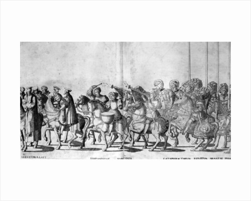 Plate 30 and 31 of the Entry of Pope Clement VII and Emperor Charles V into Bologna on 24 February 1530 by Nicholas Hogenberg