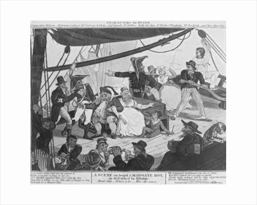 A Scene on board a Margate Hoy by English School