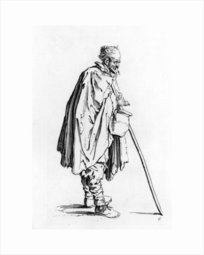 The Beggar with the Pitcher by Jacques Callot