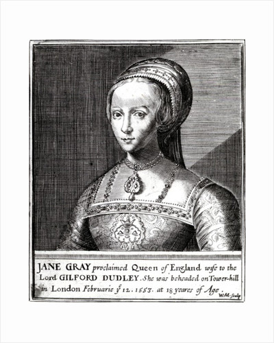 Jane Gray, engraved by William Marshall by Hans Holbein The Younger
