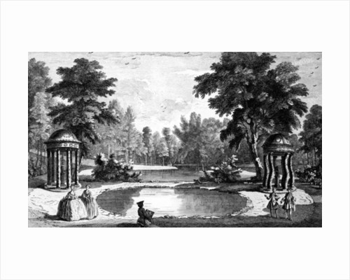 A View of the Grotto and two shell temples, Stowe House Gardens by Jean Baptiste Claude Chatelain