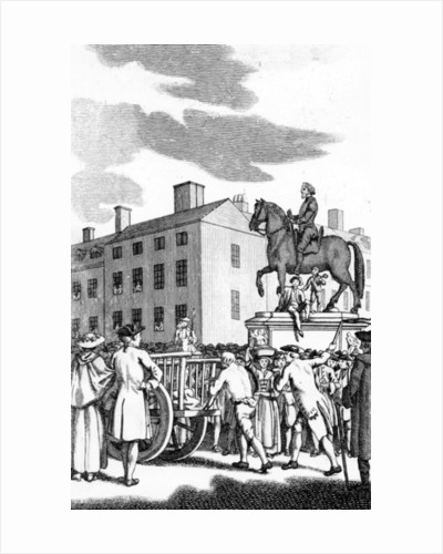 William Stroud, 'A Man whipped at the Cart's Tail for petit Larcenry from Charing Cross to the Horse Guards' by English School