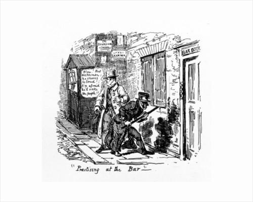 'Practising at the Bar' by George Cruikshank