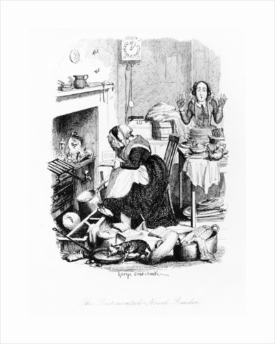 The Sentimental-Novel Reader by George Cruikshank