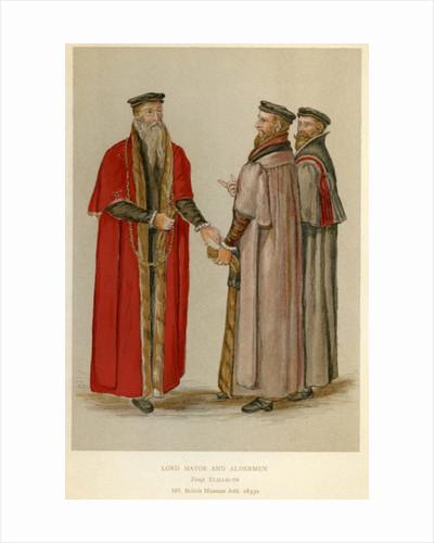 An Elizabethan Lord Mayor and Aldermen by English School