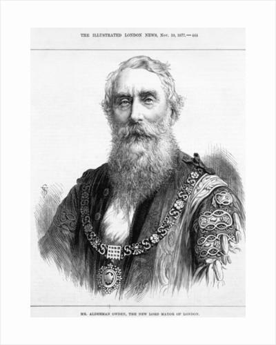 Mr. Alderman Owden, the new Lord Mayor of London by English School