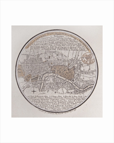 A Plan of London, Westminster and Borough of Southwark by English School