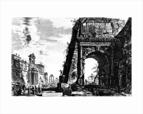 View of the Arch of Titus by Giovanni Battista Piranesi