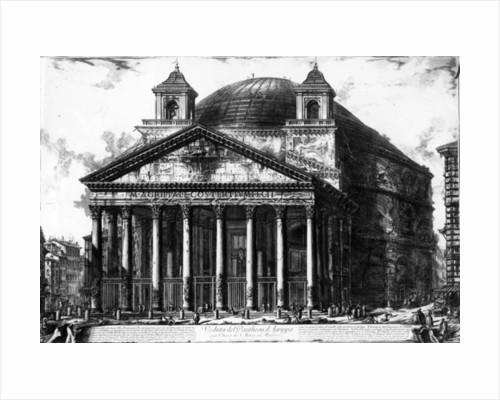 View of the Pantheon by Giovanni Battista Piranesi