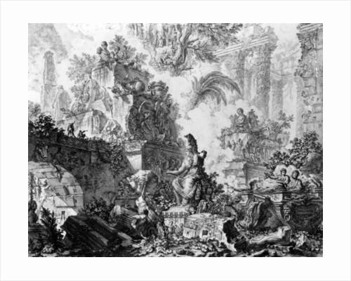 Frontispiece for the 'Vedute di Roma' series by Giovanni Battista Piranesi