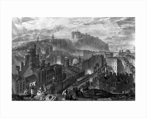 Edinburgh from the Calton Hill by Joseph Mallord William Turner