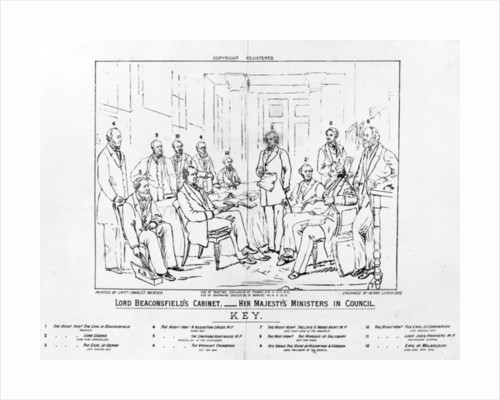 Lord Beaconsfield's Cabinet 1874 - Her Majesty's Ministers in Council by Charles Mercier